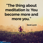 Meditation quote - David Lynch