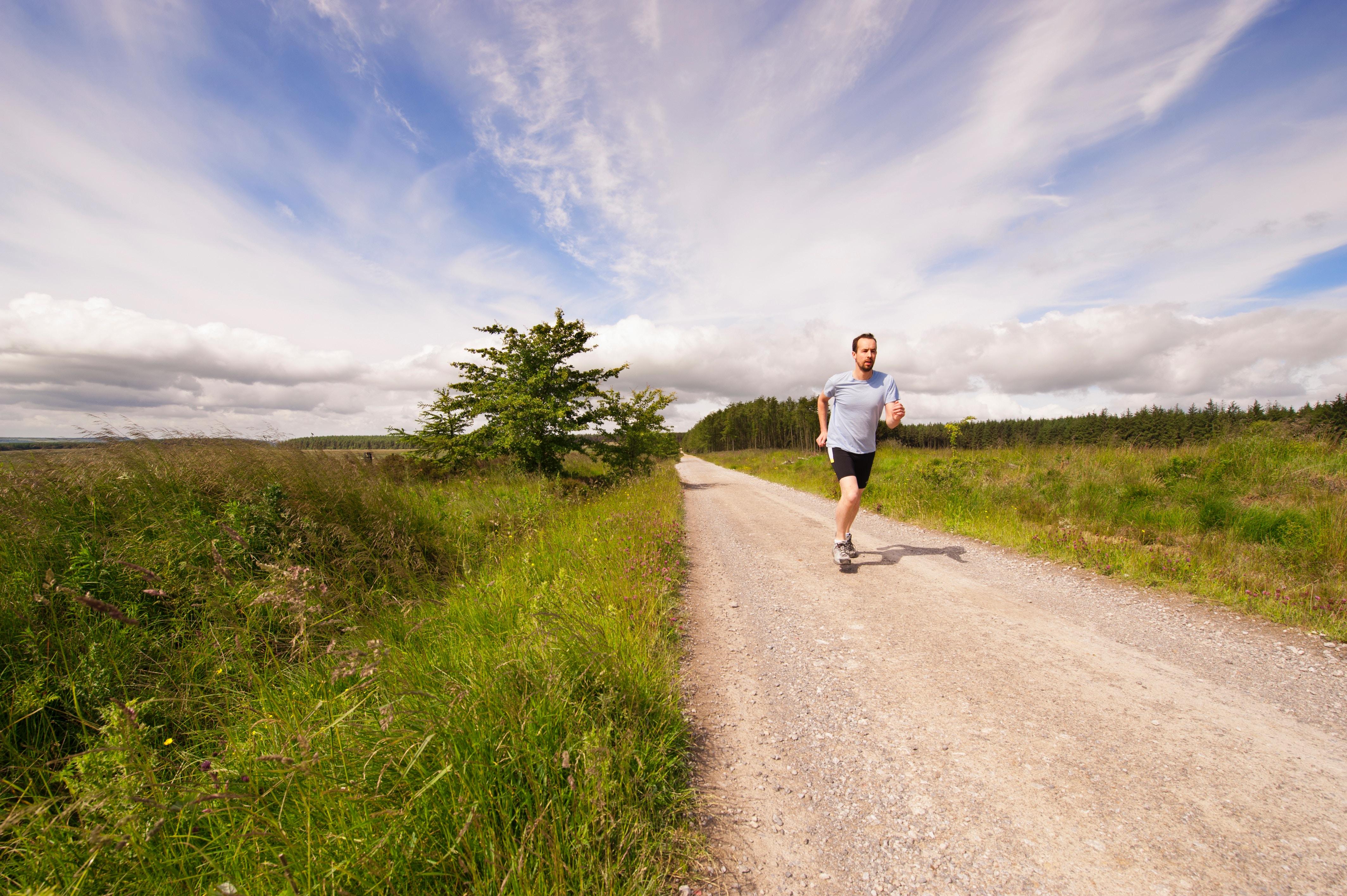 man exercise run outdoors