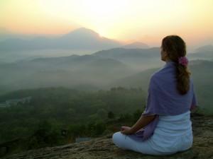 Meditation ebooks - woman meditating peacefully